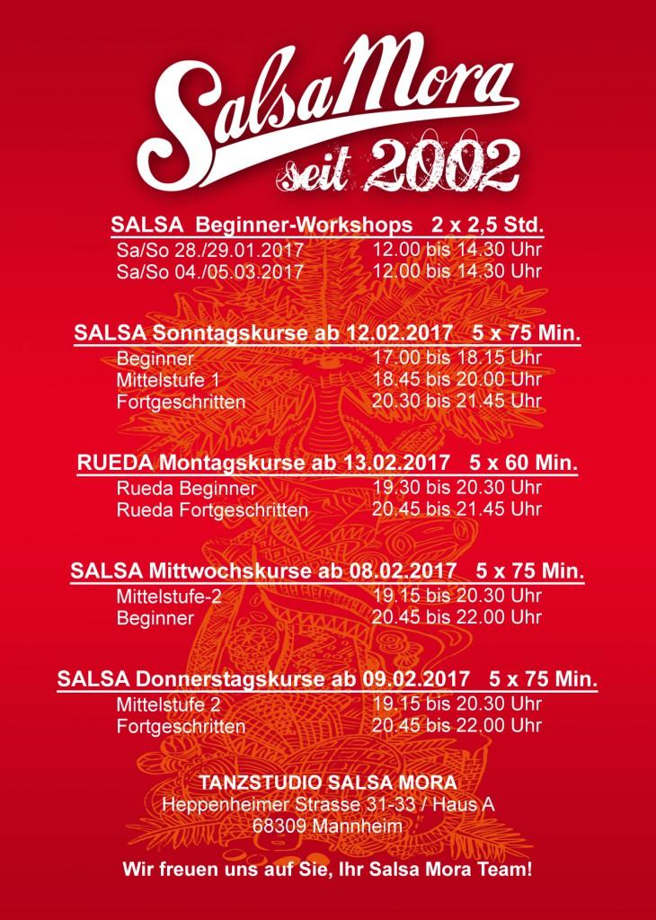 Salsa in Mannheim, Salsa Mora Kurs Flyer,